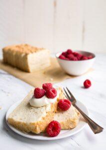 Mini Angel Food Cake in a Loaf Pan