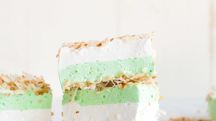 Toasted Coconut Marshmallows with Lime Layer (small batch marshmallows)
