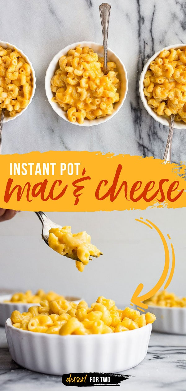 Instant Pot Mac and Cheese made in the Instant Pot Mini. Pressure cooker macaroni and cheese is so good! Plus, more instant pot mini recipes. #instantpot #instantpotmini #macandcheese #macaroniandcheese #instantpotmacaroniandcheese #instantpotrecipes