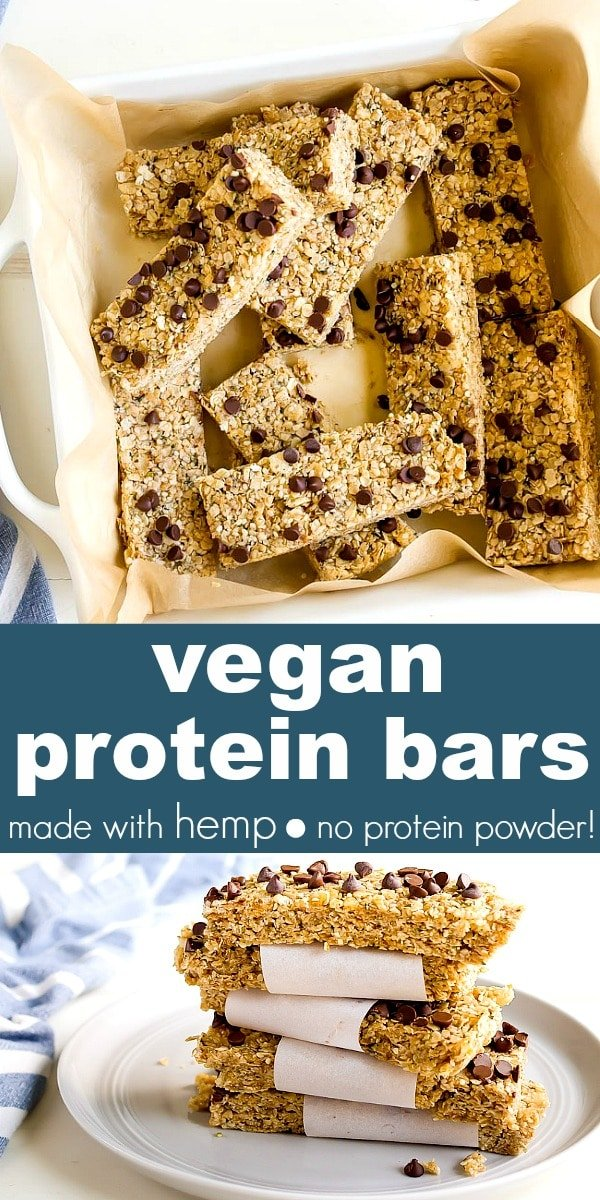 Homemade Protein Bars Recipe made with hemp seeds and that are completely vegan, too! Protein bars without protein powder. #proteinbars #hemp #hempseeds #hemphearts #vegan #veganprotein #veganproteinbars #proteinbarsnoproteinpowder