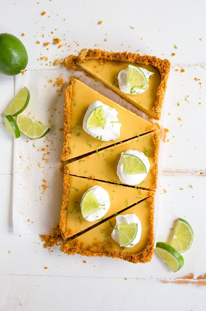 Key Lime Pie Recipe: Small batch key lime pie recipe made in a bread loaf pan to make 5 slices of pie for two.