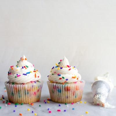Birthday Cupcakes with Sprinkles
