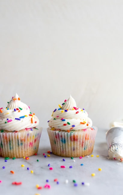 Birthday Cupcakes with Sprinkles