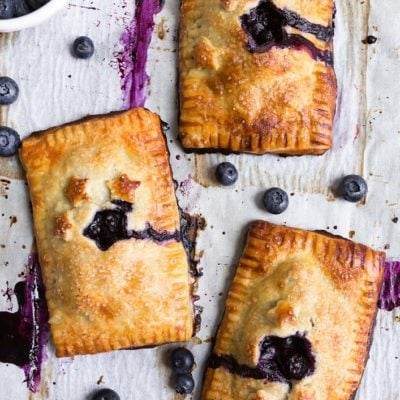 Mini Blueberry Hand Pies Recipe: a mini blueberry pie you can hold in your hand. The best hand pie recipe.