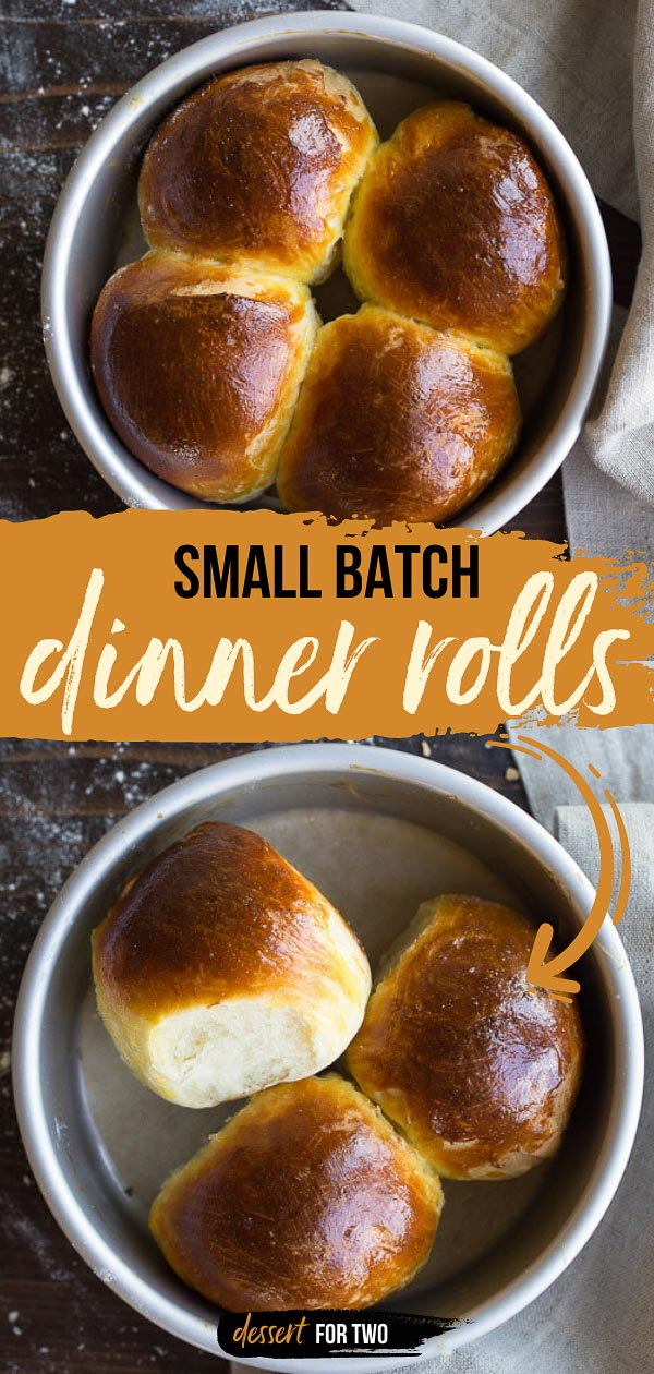 Small Batch Dinner Rolls recipe makes 4 perfect, fluffy dinner rolls for two. Small batch rolls recipe is the best way to get dinner rolls on the table. #smallbatch #dinnerrolls #yeastrolls #rolls #smallbatchrolls #smallbatchdinnerrolls #rollsfortwo #dinnerfortwo