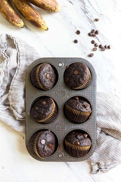 chocolate-banana-muffins-one-bowl