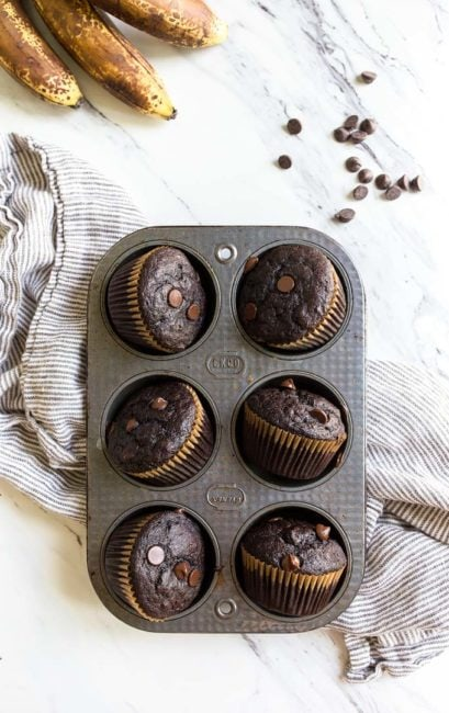chocolate-banana-muffins-one-bowl