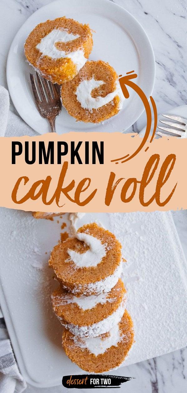 Pumpkin cake roll.