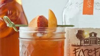 Boozy Sweet Tea Sparkling Peach-Pomegranate Cocktail