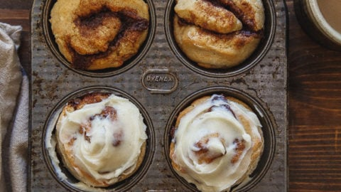 Quick Cinnamon Rolls for two