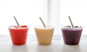 Fruity Coconut Water Slushes