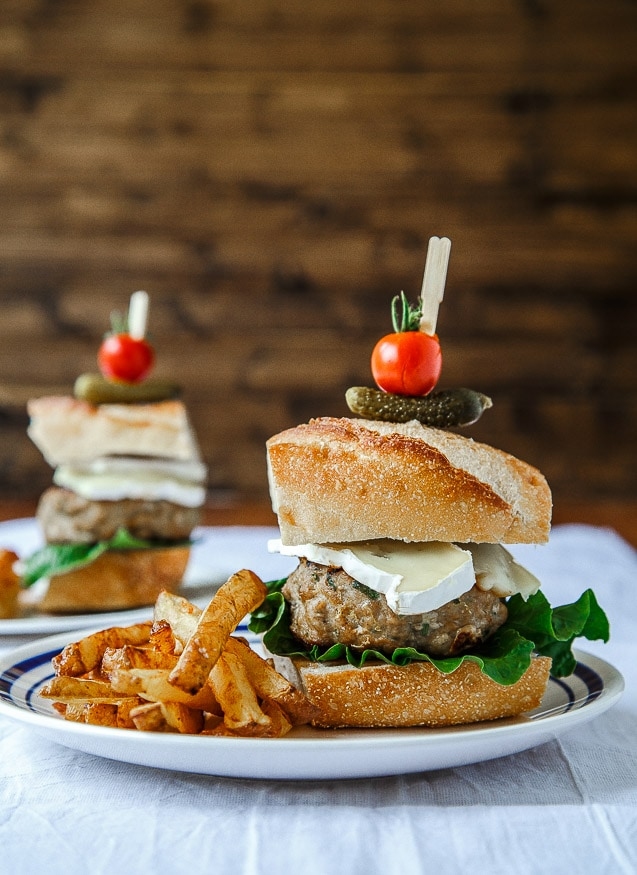 French Chicken Burgers With Easiest French Fries
