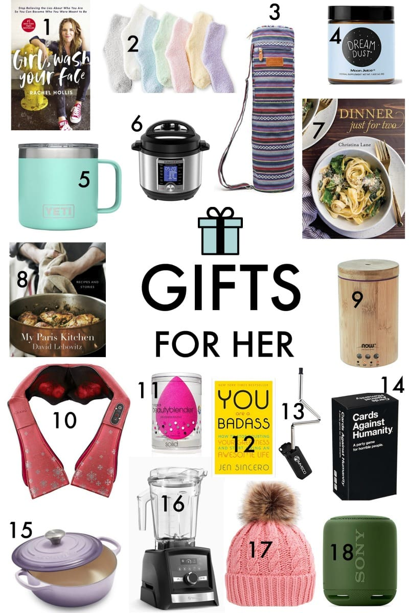 Gifts for Her Ideas Guide - Cute Gift Ideas for Women