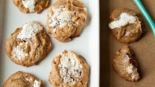 Quick Marshmallow-Peanut Butter Cookies {gluten-free}