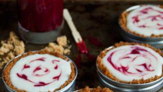 Mason Jar Lid Tarts: White Chocolate Graham