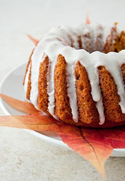 Mini Pumpkin Bundt Cake With Bourbon Glaze 3 Cup Bundt