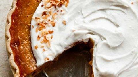 pumpkin pie with coconut