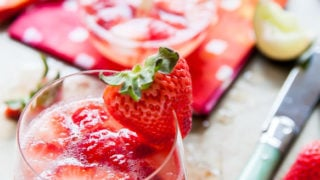 Strawberry Rose Gin Fizz
