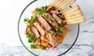 Dinner for Two: Soba Noodle Steak Salad