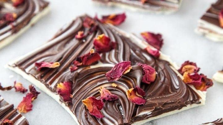 Love Bark: Rose + Chocolate