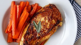 Apple Cider Glazed Chicken Breast with Carrots