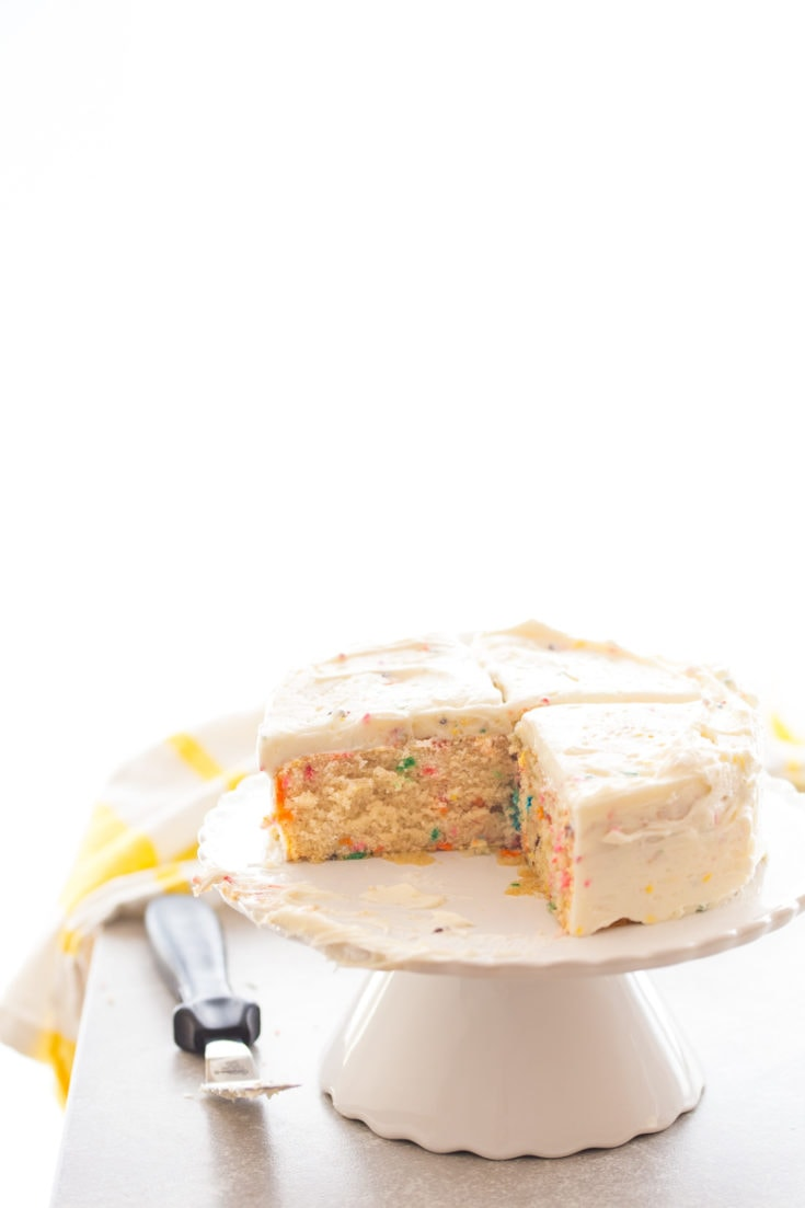 Homemade Funfetti Cake Small Funfetti Cake For Two