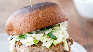 Dinner for Two: Rosemary-Apple Chicken Burgers + Slaw