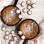 Cast Iron Skillet Gingerbread Cookie for Two