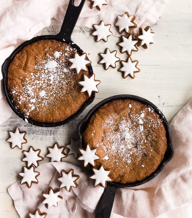 Cast Iron Skillet Gingerbread Cookie For Two Dessert For Two