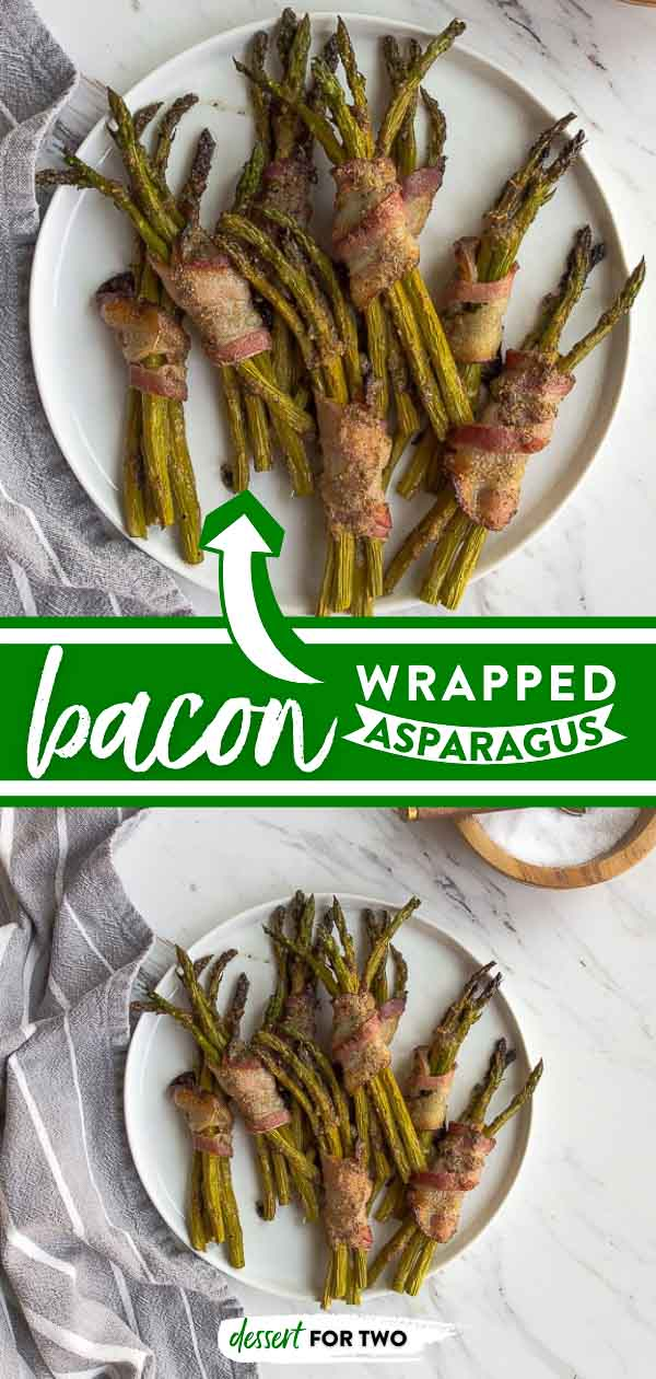 Bacon wrapped asparagus that are perfect for a Whole30 snack or Whole30 dinner side dish, or even at an appetizer party. #whole30 #whole30recipes #bacon #asparagus #baconwrapped #baconwrappedasparagus #appetizers