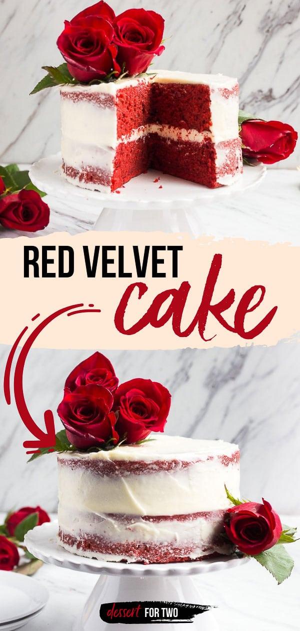 Red velvet 6 inch cake.