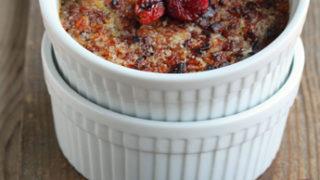 Cherry Vanilla Baked Oatmeal