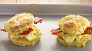 Cheddar Biscuit Breakfast Sandwiches