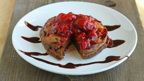 Chocolate-Covered Strawberry Pancakes