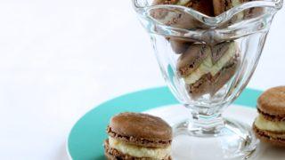 Chocolate Macarons with Orange Buttercream