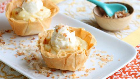 Two-Bite Coconut Cream Pies