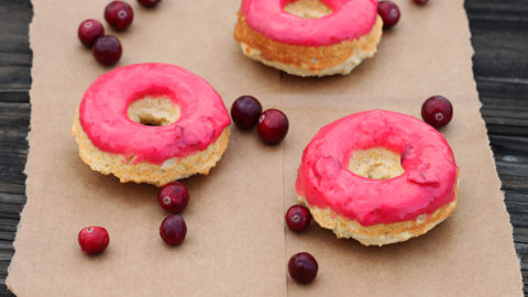 Cranberry Cornmeal Donuts