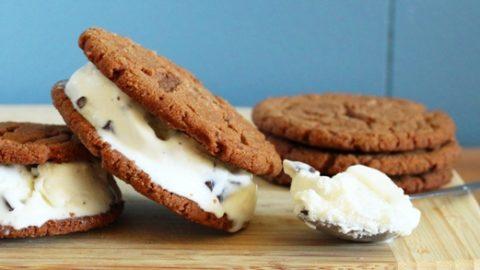 Mint Chip Ice Cream Sandwiches