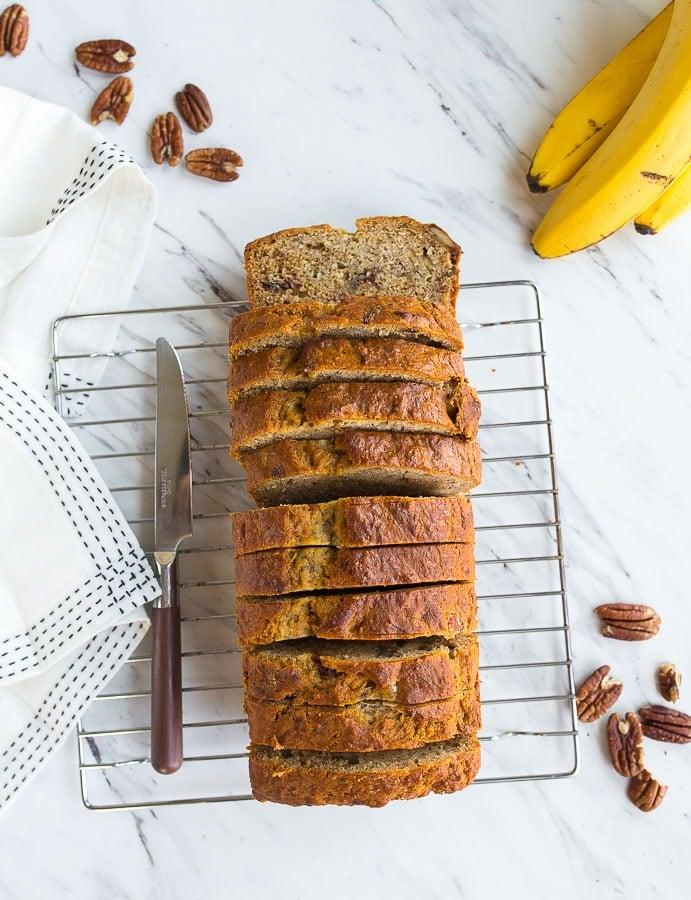 Eggless banana bread! Banana Bread no eggs! The best egg free banana bread.