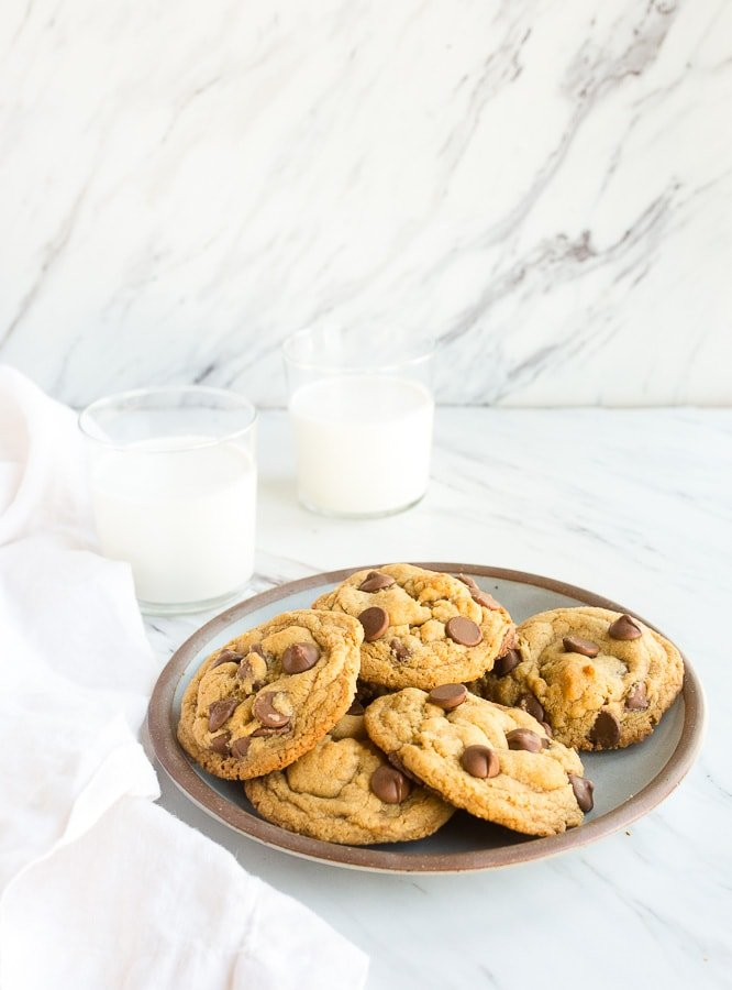 Cookies without eggs. Chocolate chip cookies without eggs recipe. Dessert for two recipe.