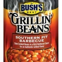 Bush's Grillin' Beans, Southern Pit Barbecue, 22oz Can (Pack of 6)