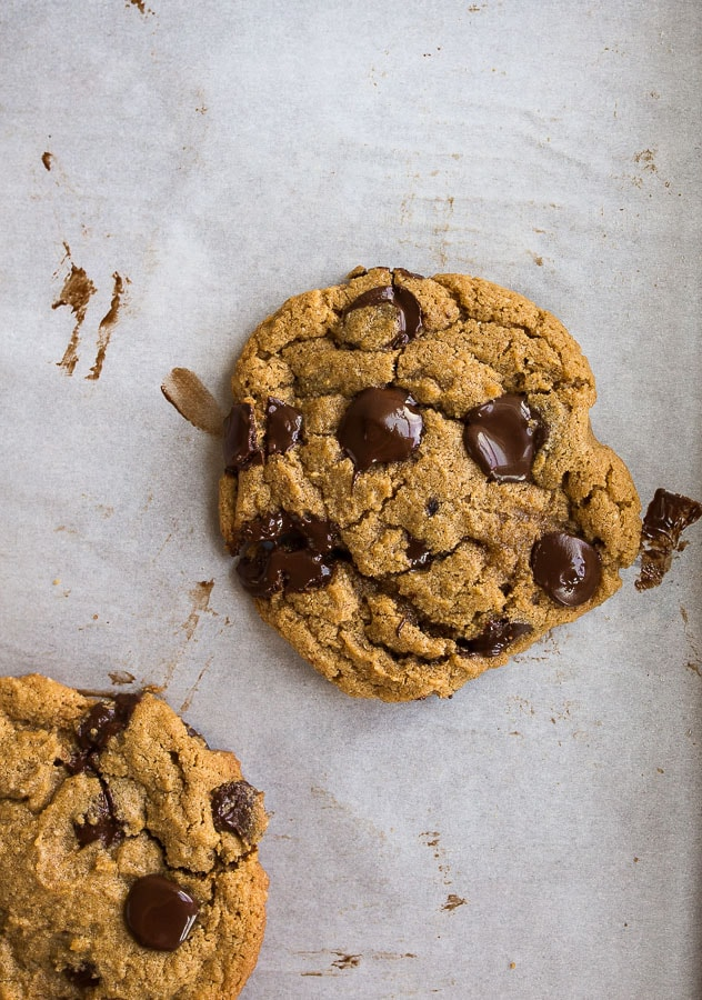 chocolate chip cookies with almond flour. gluten free and paleo