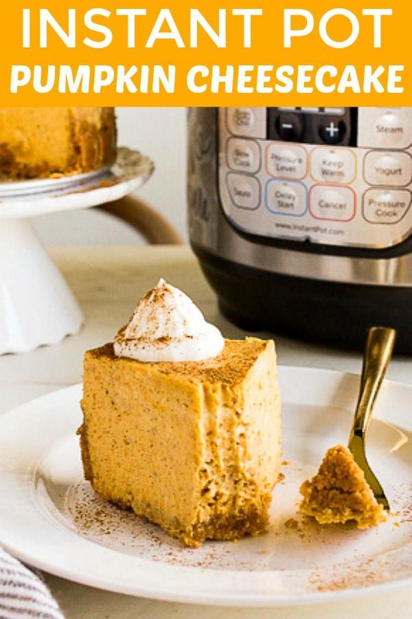Instant Pot Pumpkin Cheesecake Dessert For Two