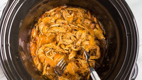 Slow Cooker Pulled Pork Tenderloin