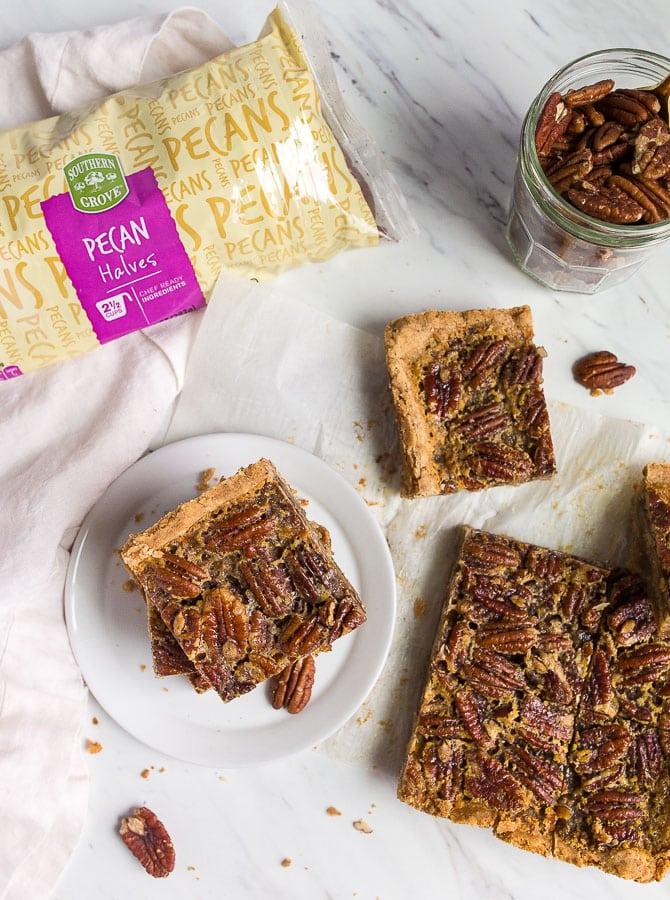 pecan pie bars with shortbread