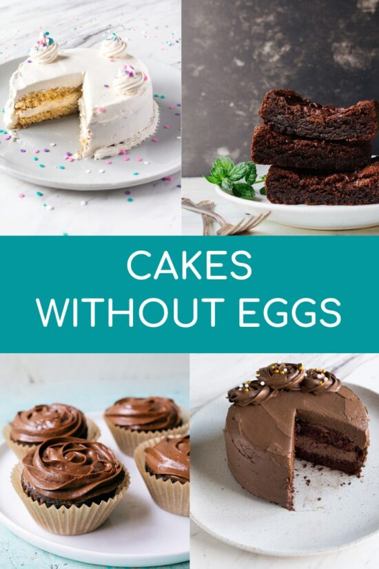 How to make cake without eggs