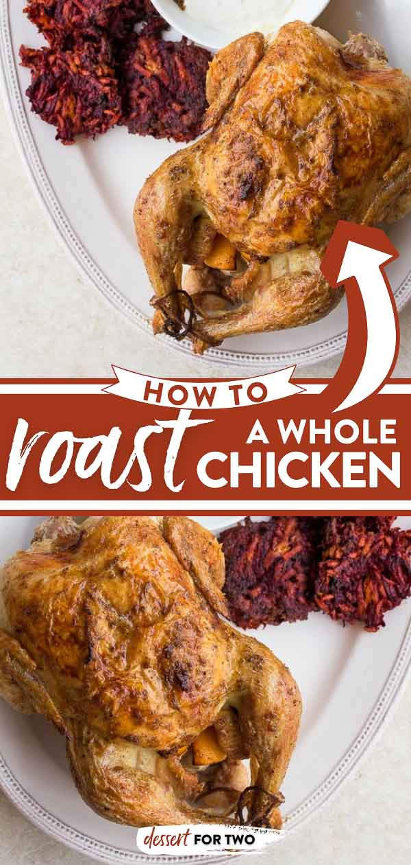 How to roast a whole chicken with carrot beet fritters (perfect for baby led weaning) and a creamy yogurt dipping sauce! #roastchicken #howtoroastachicken #carrotbeet #beet #fritters #babyledweaning #blweaning #yogurtdip