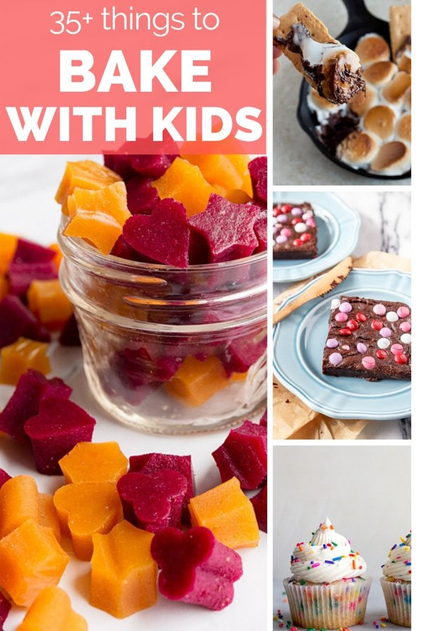 Easy baking recipes for baking with kids. These kid friendly recipes are so fun if you're cooking with kids in the kitchen. Small batch baking recipes are great for cooking with kids.