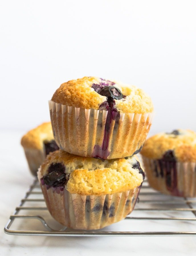 small batch blueberry muffins