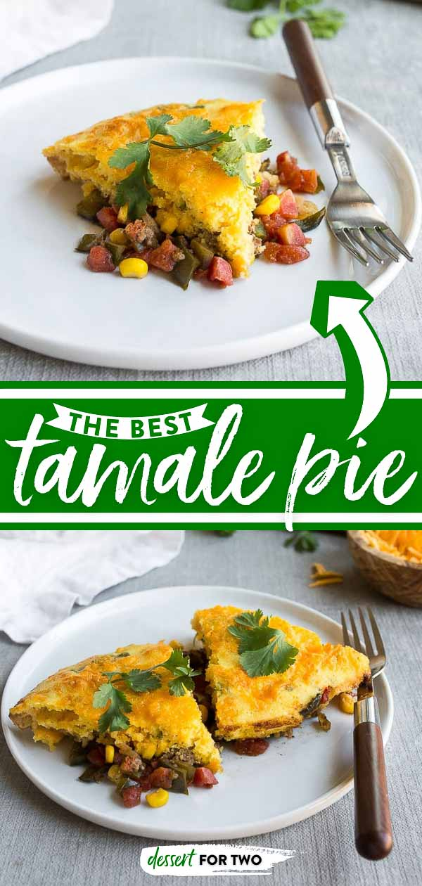 Easy tamale pie on a plate.